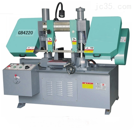 金属带锯床价格-GB4220金属带锯床一台-山东锯床厂