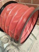 可定制防火通风软连接,红色硅胶、高温负压风筒、