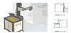 N100自动化系统置于数控车床前面